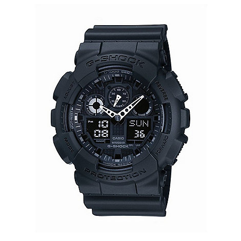 G-shock - Men+s  black round face digi-analogue watch ga-100-1a1er