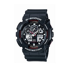 G-shock - Men's  black coloured marker digi-analogue watch ga-100-1a4er