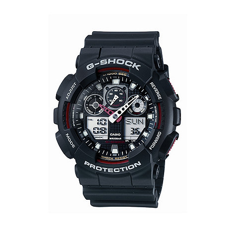 G-shock - Men+s  black coloured marker digi-analogue watch ga-100-1a4er
