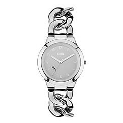 STORM - Ladies silver dial chain link bracelet watch