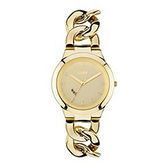 STORM - Ladies gold dial chain link bracelet watch