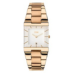 STORM - Ladies white dial slimline bracelet watch