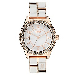 STORM - Ladies white dial enamel bracelet watch