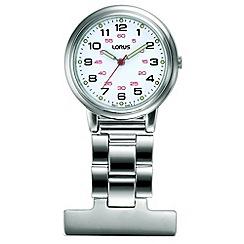 Lorus - Unisex white dial nurses fob pin