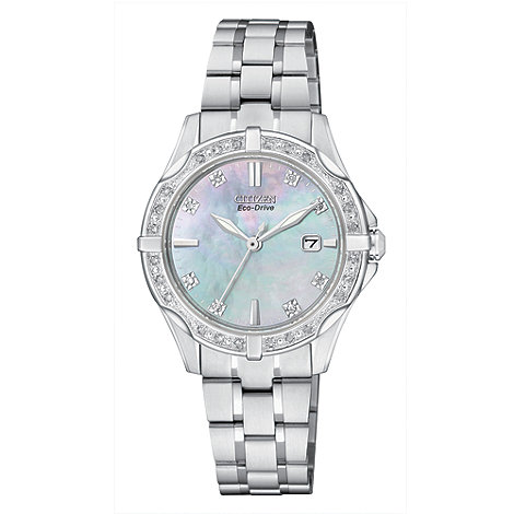 Citizen - Ladies Eco-Drive silhouette diamond watch