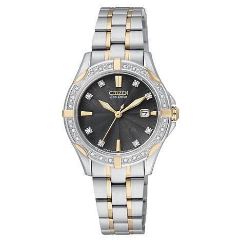 Citizen - Ladies Eco-Drive silhouette diamond watch
