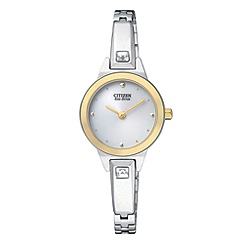 Citizen - Ladies Eco-Drive silhouette crystal bangle watch