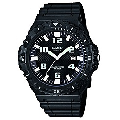 Casio - Men's black white marker watch