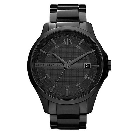 Armani Exchange - Men+s black smart bracelet watch