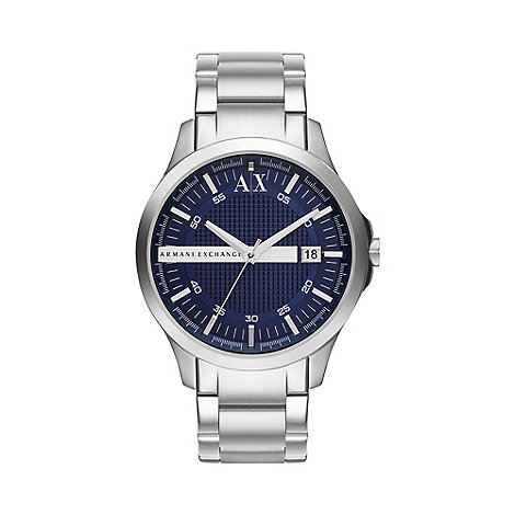 Armani Exchange - Men+s stainless steel bracelet watch