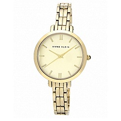 Anne Klein - Ladies gold tone bracelet with round face watch
