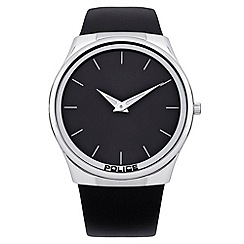 Police - Men's 'Horizon model' black dial leather strap watch