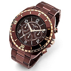 Police - Men's 'Miami MF model' brown dial bracelet strap watch