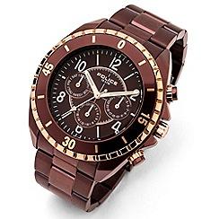 Police - Men's 'Miami MF model' brown dial bracelet strap watch