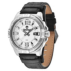 Timberland - Men's 'Penacook model' silver dial leather strap watch