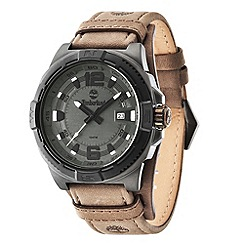 Timberland - Men's 'Penacook model' grey dial leather strap watch