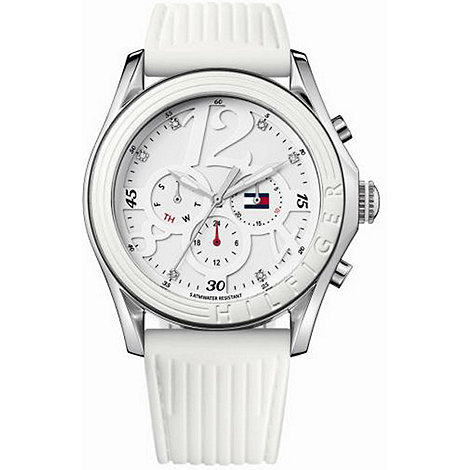 Tommy Hilfiger - Ladies Ladies round chronograph dial leather strap watch