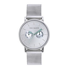 Ted Baker - Men's silver multi function bracelet watch