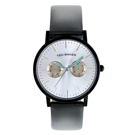 Ted Baker - Men+s black multi function strap watch