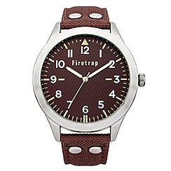 Firetrap - Men's brown strap watch