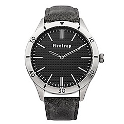 Firetrap - Men's grey/black strap watch