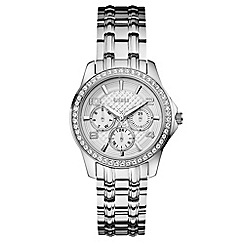 Guess - Ladies silver crystal bracelet watch