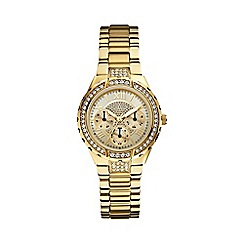 Guess - Ladies gold bracelet watch with crystal detailing w0111l2