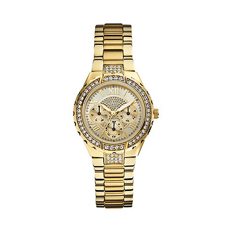 Guess - Ladies gold crystal bracelet watch