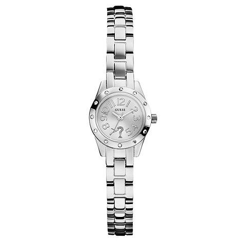 Guess - Ladies silver crystal bracelet watch