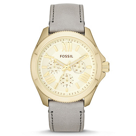 Fossil - Ladies grey +Cecile+ multifunction leather watch