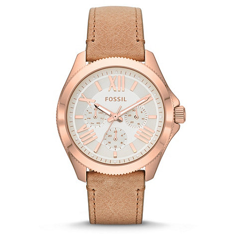 Fossil - Ladies light pink +Cecile+ multifunction leather watch