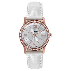 Ted Baker - Ladies rose gold analogue strap watch