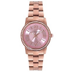 Ted Baker - Ladies rose gold analogue bracelet watch