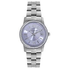 Ted Baker - Ladies silver stainless steel analogue watch