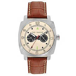 Ted Baker - Men's brown multifunction strap watch