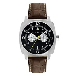 Ted Baker - Men's dark brown multifunction strap watch