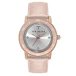 Ted Baker - Ladies pink analogue strap watch