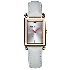 Ted Baker - Ladies rose gold analogue leather strap watch