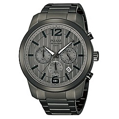 Pulsar - Men's grey chronograph bracelet watch