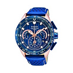 Pulsar - Men's blue chronograph strap watch