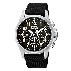 Pulsar - Men's black chronograph strap watch
