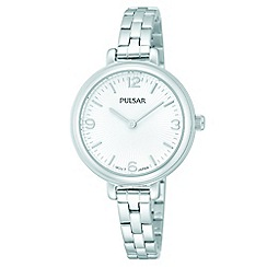 Pulsar - Ladies ss white dial analogue bracelet watch