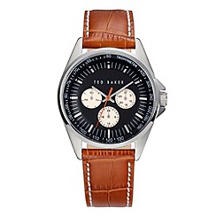 Ted Baker - Mens's silver chronograph strap watch
