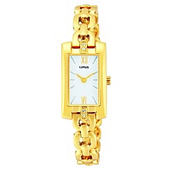 Lorus - Ladies rectangular dial gold dress watch