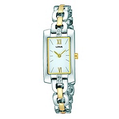 Lorus - Ladies rectangular two tone dress watch