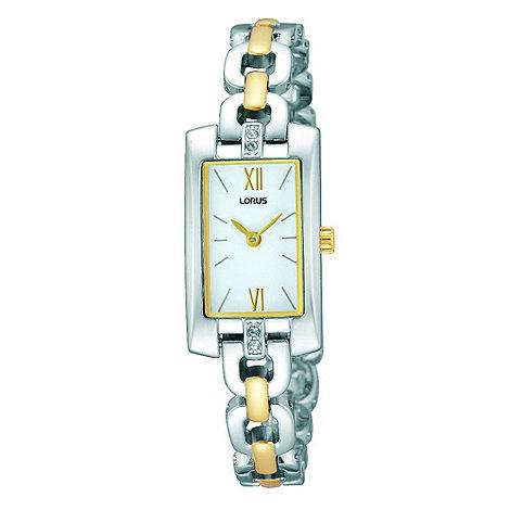 Lorus - Ladies rectangular two tone dress watch