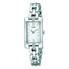 Lorus - Ladies rectangular silver dress watch