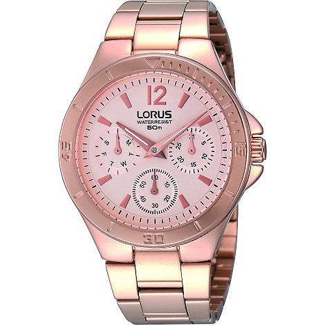 Lorus - Ladies multidial rose gold bracelet watch