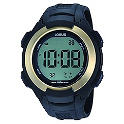 Lorus - Men's digital polyurethane strap watch