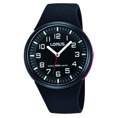 Lorus kids 39 black soft resin strap watch rrx47dx9 debenhams for Dovoda watches